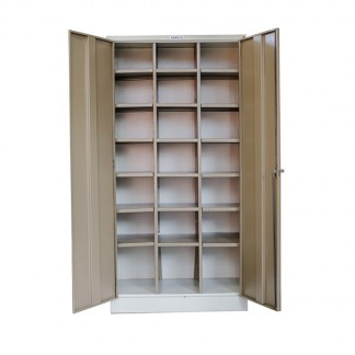 Twenty One slot pigeon hole steel filing cabinet