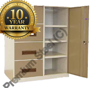 4 Drawer 3 Shelf Heavy Duty Combo Steel Cabinets