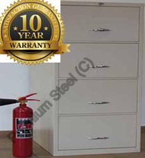 4 Drawer Heavy Duty Fire Resistant Cabinets