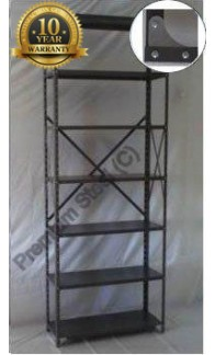 Heavy Duty Open 7 Shelves Freestanding Bolted Steel Shelving-Hammer tone Grey only