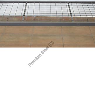 Heavy Duty Steel Beds with no Headboard Wire Mesh Hammertone Grey Only