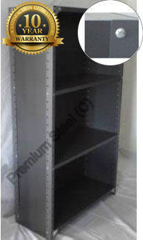 Heavy Duty Closed 4 Shelves Freestanding Bolted Steel Shelving-Hammer tone grey only.