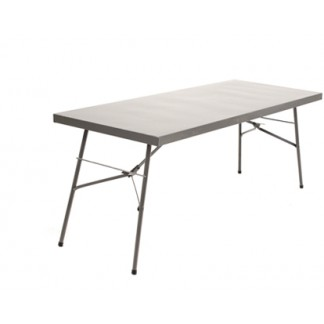1890mm Heavy Duty Steel Folding Tables Hammertone Grey Only