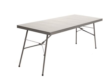 1m Heavy Duty Steel Folding Table Hammertone Grey Only