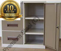 3 Drawer 2 shelf Heavy Duty Combo Steel Cabinets