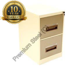 Two drawer steel filing cabinets