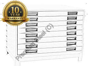 Heavy Duty 8 Drawer Steel Plan Filing Cabinets Ivory Only