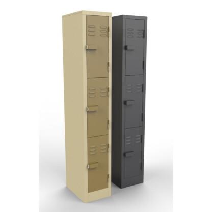 3 Doors Heavy Duty Steel Lockers