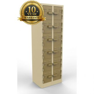 Twelve doors steel lockers for sale.