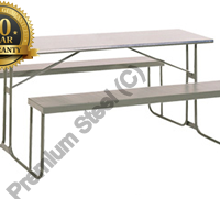 Heavy Duty 1500mm Painted Steel Canteen Benches Hammertone Grey Only