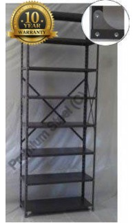 Steel shelving Pretoria with eight shelves.