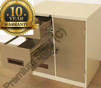 3 Drawer Safety Box 1 Shelf Heavy Duty Combo Steel Cabinets