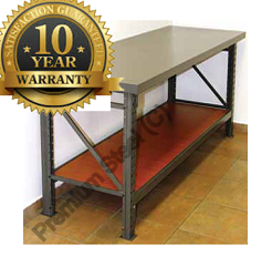 Heavy Duty Steel Workbenches Hammertone Grey Only.