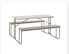 Heavy Duty Steel Canteen Benches