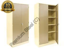 Steel cupboards 4 shelves