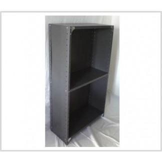 Heavy Duty Closed 3 Shelves Freestanding Bolted Steel Shelving-Hammer tone grey only.