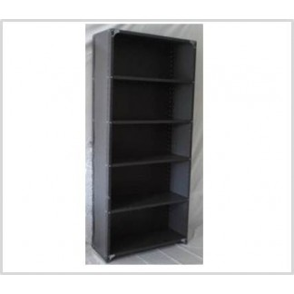 Heavy Duty Closed 6 Shelves Freestanding Bolted Steel Shelving-Hammer tone grey only.