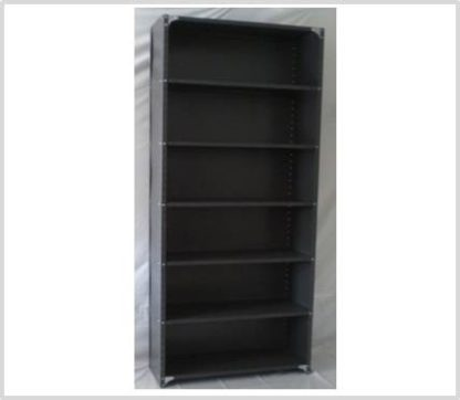 Heavy Duty Closed 7 Shelves Freestanding Bolted Steel Shelving-Hammer tone grey only.