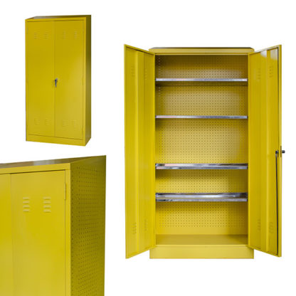 Heavy Duty Steel Hazardous Cabinets Yellow Only