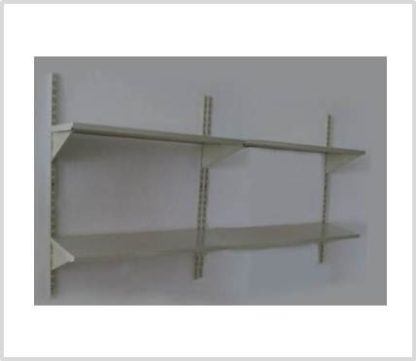 Heavy Duty 4 Shelves Set Wall Mounted Steel Shelving-Ivory Color Only