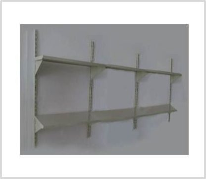 Heavy Duty 6 Shelves Set Wall Mounted Steel Shelving-Ivory Color Only