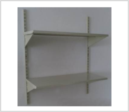 Heavy Duty 2 Shelves Set Wall Mounted Steel Shelving-Ivory Color Only.