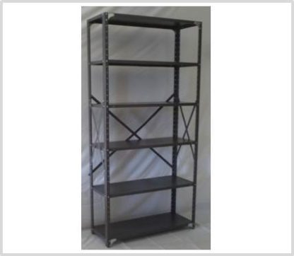Heavy Duty Open 6 Shelves Freestanding Bolted Steel Shelving-Hammer tone Grey Only
