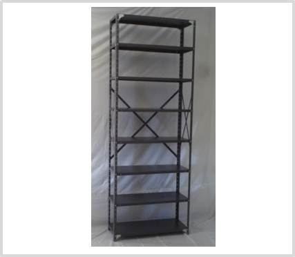 new concept adfc3 9cf66 Heavy Duty Open 8 Shelves Freestanding Bolted Steel Shelving-Hammer tone  grey only.
