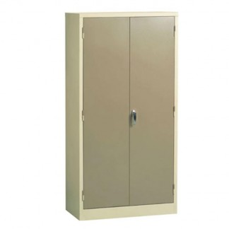Heavy Duty Stationery Cupboard with 3 Shelves-1500mm Height. Ivory/Karoo or Grey.