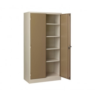 Best Seller- Heavy Duty Stationery Cupboard with 4 Shelves. 1800mm Height. Ivory/Karoo or Grey.