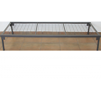 Heavy Duty Steel Beds with no Headboard Wire Mesh Hammertone Grey Only