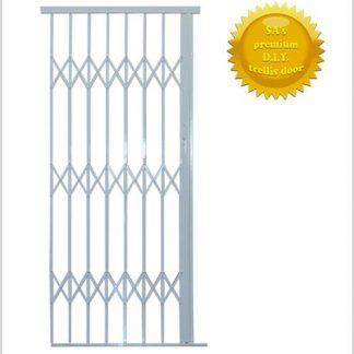Framed Aluminium-Gliding Security Gate- 1000mm(1m Wide)-White