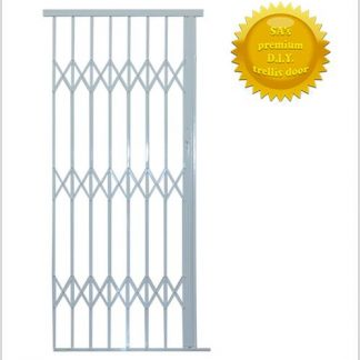 Framed Aluminium-Gliding Security Gate- 1500mm (1.5m Wide)-White