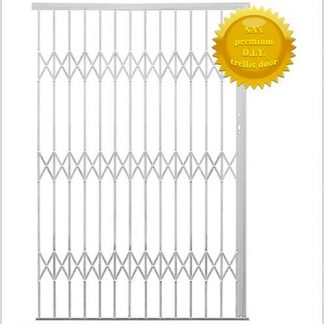 Framed Aluminium-Gliding Security Gate- 1800mm (1.8m Wide)-White.