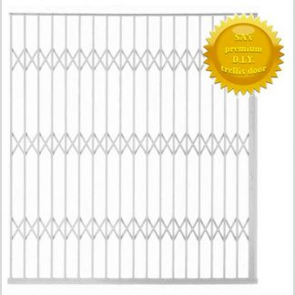 Framed Aluminium-Gliding Security Gate- 2500mm (2.5m Wide)-White.