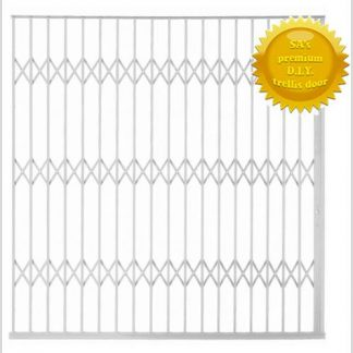 Framed Aluminium-Gliding Security Gate- 3000mm (3m Wide)-White.