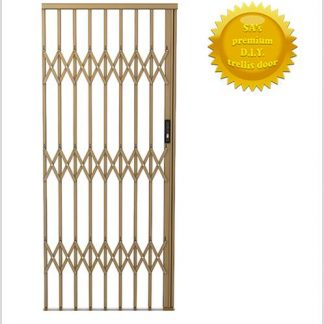 Framed Aluminium-Gliding Security Gate- 1000mm (1m Wide)-Bronze.