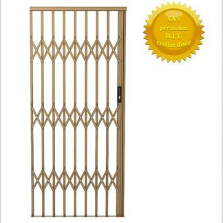 Framed Aluminium-Gliding Security Gate- 1500mm (1.5m Wide)-Bronze.
