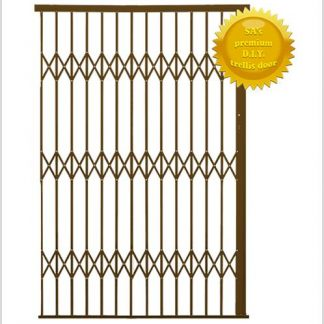 Framed Aluminium-Gliding Security Gate- 1800mm (1.8m Wide)-Bronze.