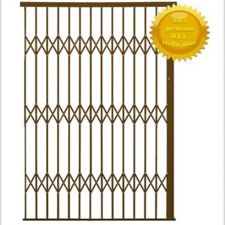 Framed Aluminium-Gliding Security Gate- 2200mm (2.2m Wide)-Bronze.