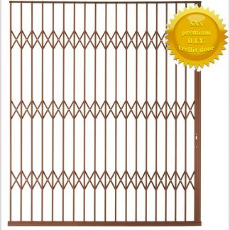 Framed Aluminium-Gliding Security Gate- 2500mm (2.5m Wide)-Bronze.