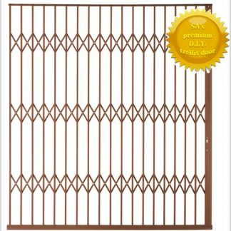 Framed Aluminium-Gliding Security Gate- 3000mm (3m Wide)-Bronze.