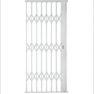 Heavy Duty Framed Aluminium-Gliding Security Gate-1000mm (1m Wide)-White.