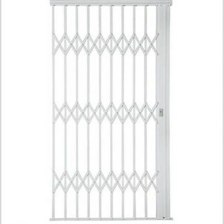 Heavy Duty Framed Aluminium-Gliding Security Gate-1500mm (1.5m Wide)-White.