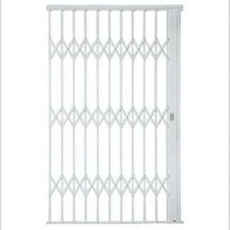 Heavy Duty Framed Aluminium-Gliding Security Gate-1800mm (1.8m Wide)-White.