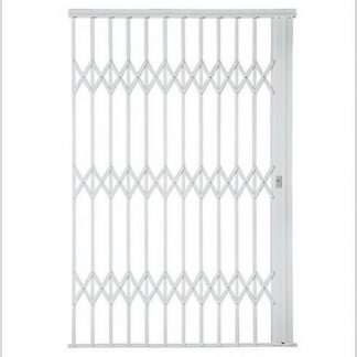 Heavy Duty Framed Aluminium-Gliding Security Gate-2200mm (2.2m Wide)-White.