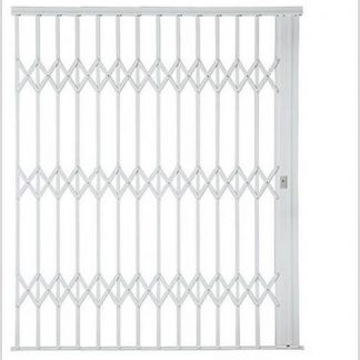 Heavy Duty Framed Aluminium-Gliding Security Gate-2500mm (2.5m Wide)-White.