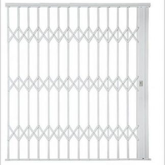 Heavy Duty Framed Aluminium-Gliding Security Gate-3000mm (3m Wide)-White.