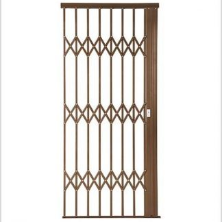 Heavy Duty Framed Aluminium-Gliding Security Gate-1000mm (1m Wide)-Bronze.