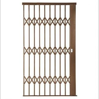 Heavy Duty Framed Aluminium-Gliding Security Gate-1500mm (1.5m Wide)-Bronze.